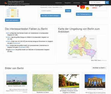Statistik zu jedem Ort in Deutschland - Deutschland123.de (von Benjamin Erhardt)