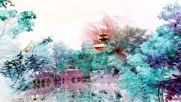 Bearbeitungen von Aufnahmen aus Japan, die aus dem Photo-Material stilisierte Gemälde machen wollen - Serie 'Japan als Gemälde' (von Benjamin Erhardt)