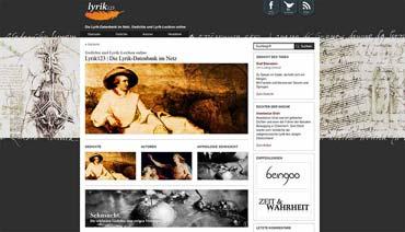 Die Deutsche Lyrik-Datenbank im Internet - Lyrik123.de (von Benjamin Erhardt)