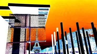 Bearbeitungen von ausgewählten Motiven, die auf Wanderungen durch Paris entstanden sind (2014) - Serie 'Paris' (von Benjamin Erhardt)