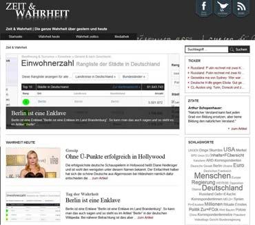 Ein Online-Magazin über gestern und heute - Zeit und Wahrheit (von Benjamin Erhardt)