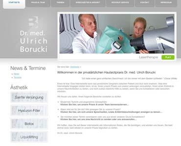 Webseite für eine dermatologische Fachpraxis - praxis-borucki.de (von Benjamin Erhardt)