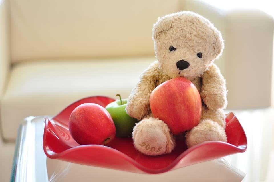 Foster als Stilleben mit Äpfeln. Ein künstlerischer Moment