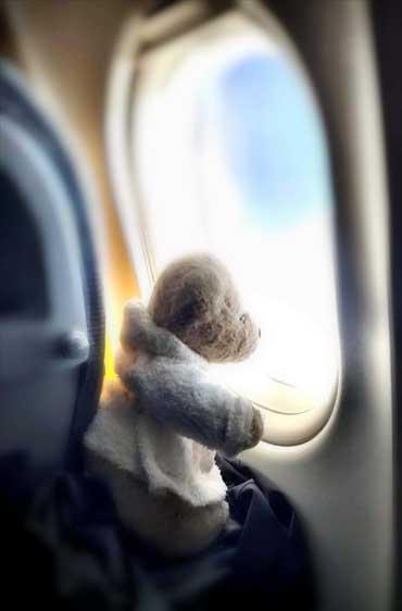 Im Flugzeug nach Japan - Fosters Fernweh (von Benjamin Erhardt)