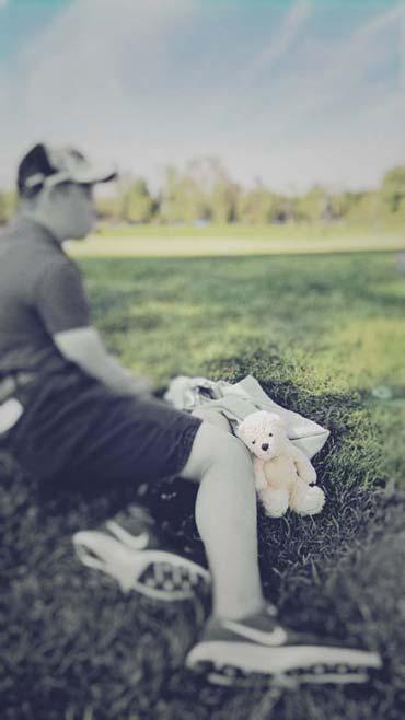 So viel Rummel um einen kleinen Ball - Foster mit Tim Erhardt auf dem Golfplatz (von Benjamin Erhardt)