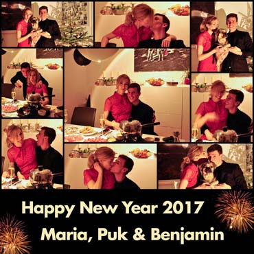 Benjamin, Maria, Puk Erhardt: Happy New Year 2017