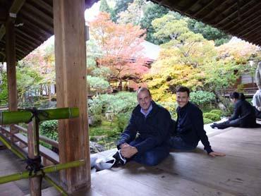Besichtigung einer japanischen Tempelanlage